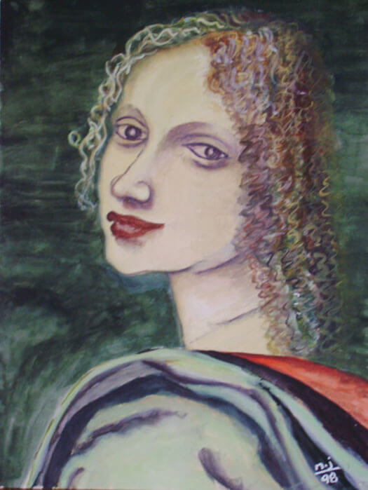 Woman, re-created from another painting