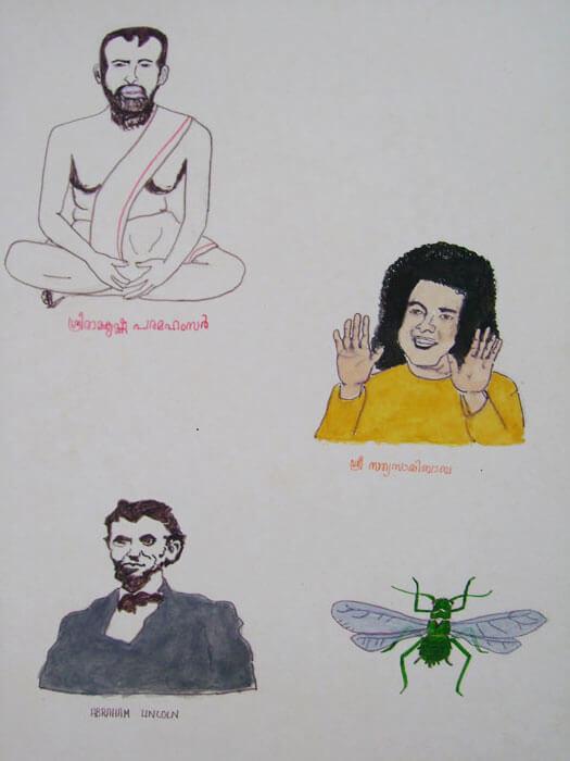 Sri Ramakrishna Paramahamsa, Sai Baba, Abraham Lincoln