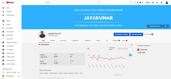Jayakumar N Youtube